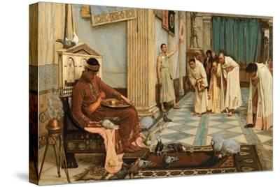 The Favourites of Emperor Honorius, C.1883-John William Waterhouse-Stretched Canvas Print
