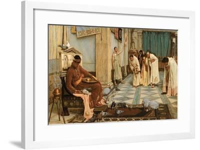 The Favourites of Emperor Honorius, C.1883-John William Waterhouse-Framed Giclee Print