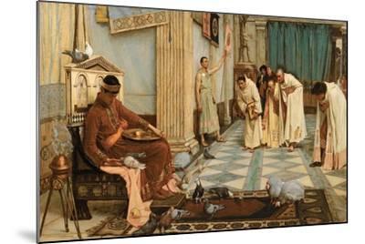 The Favourites of Emperor Honorius, C.1883-John William Waterhouse-Mounted Giclee Print