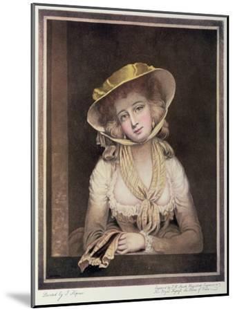 Portrait of Sophia Western-John Hoppner-Mounted Giclee Print