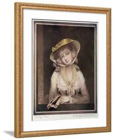 Portrait of Sophia Western-John Hoppner-Framed Giclee Print