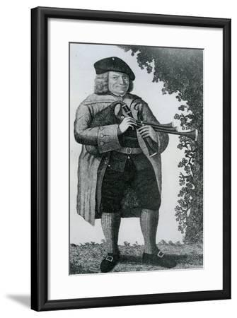 Old Geordie Sime, a Famous Piper in His Time', 1789-John Kay-Framed Giclee Print
