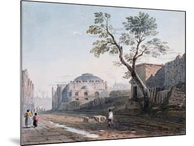 Scotch Church and the Remains of London Wall, 1818-John Varley-Mounted Giclee Print