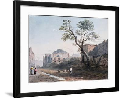 Scotch Church and the Remains of London Wall, 1818-John Varley-Framed Giclee Print