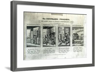 The Drunkard's Progress, 1826-John Warner Barber-Framed Giclee Print