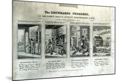 The Drunkard's Progress, 1826-John Warner Barber-Mounted Giclee Print