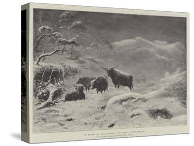 A Storm on Ben Lawers-John Isaac Richardson-Stretched Canvas Print