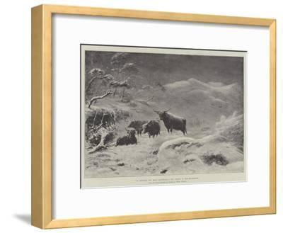 A Storm on Ben Lawers-John Isaac Richardson-Framed Giclee Print