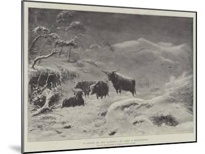 A Storm on Ben Lawers-John Isaac Richardson-Mounted Giclee Print