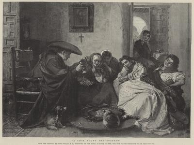 A Chat Round the Brasero-John Phillip-Framed Giclee Print
