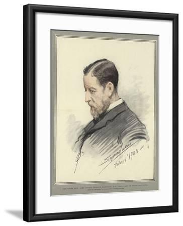 The Right Honorable Lord George Francis Hamilton, Mp, Secretary of State for India-John Seymour Lucas-Framed Giclee Print