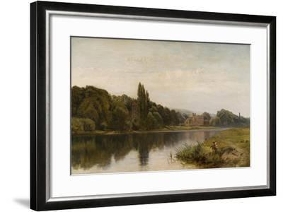 Summertime on the Thames, Bisham Church and Abbey, C.1875-John Surtees-Framed Giclee Print