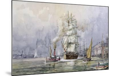 The 'Salamis' Passing Greenwich-John Sutton-Mounted Giclee Print