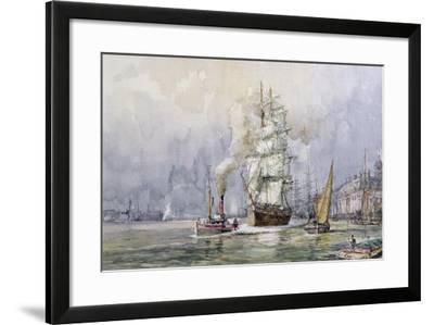The 'Salamis' Passing Greenwich-John Sutton-Framed Giclee Print