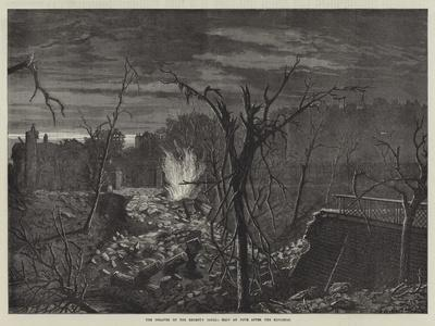 The Disaster on the Regent's Canal, Half an Hour after the Explosion-John Templeton Lucas-Framed Giclee Print
