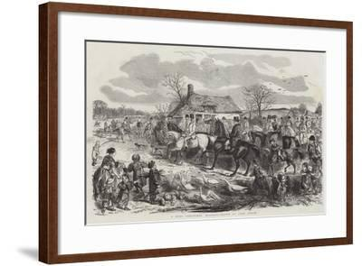 A Real Christmas Holiday-John Leech-Framed Giclee Print