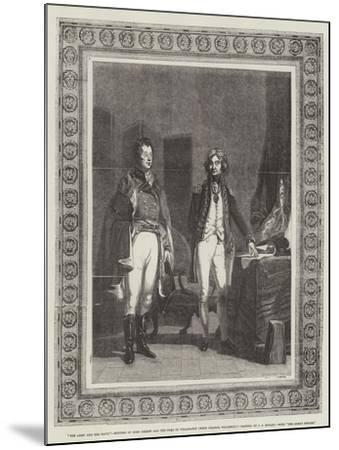 The Army and the Navy, Meeting of Lord Nelson and the Duke of Wellington (When Colonel Wellesley)-John Prescott Knight-Mounted Giclee Print