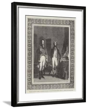 The Army and the Navy, Meeting of Lord Nelson and the Duke of Wellington (When Colonel Wellesley)-John Prescott Knight-Framed Giclee Print