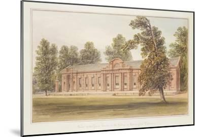 The Orangery or Greenhouse in the Garden of Kensington Palace-John Edmund Buckley-Mounted Giclee Print
