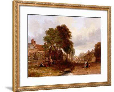 Westoe Village, 1835-John Wilson Carmichael-Framed Giclee Print