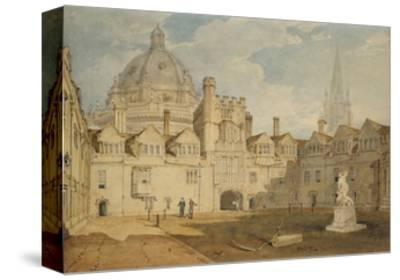 A View from the Inside of Brazen Nose College Quadrangle-J^ M^ W^ Turner-Stretched Canvas Print