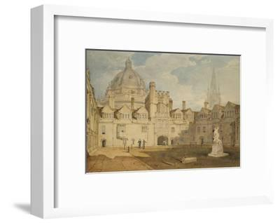 A View from the Inside of Brazen Nose College Quadrangle-J^ M^ W^ Turner-Framed Giclee Print