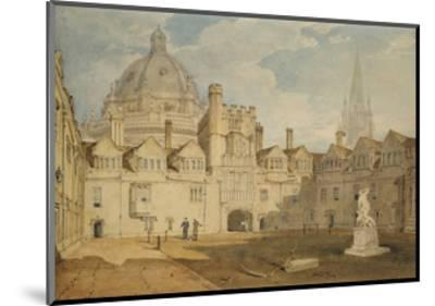 A View from the Inside of Brazen Nose College Quadrangle-J^ M^ W^ Turner-Mounted Giclee Print