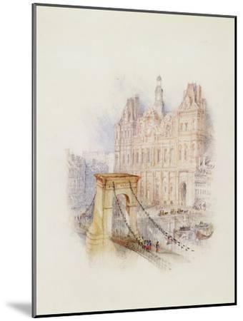 Paris: Hotel De Ville-J^ M^ W^ Turner-Mounted Giclee Print