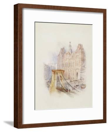 Paris: Hotel De Ville-J^ M^ W^ Turner-Framed Giclee Print