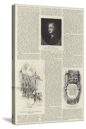 The Bi-Centenary of Henry Purcell-Joseph Holland Tringham-Stretched Canvas Print