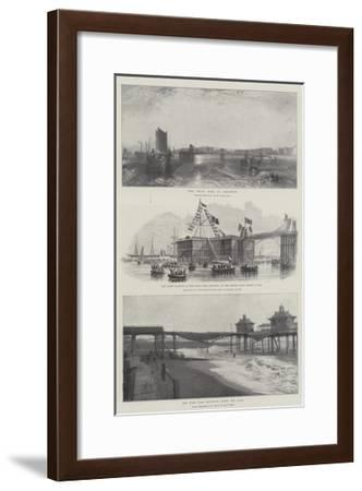 The Chain Pier at Brighton-J^ M^ W^ Turner-Framed Giclee Print