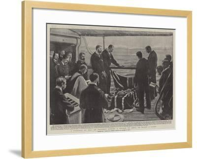 A Funeral at Sea, at Incident During a Voyage to India on Board a Liner-Joseph Nash-Framed Giclee Print