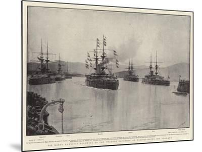 Sir Harry Rawson's Farewell to the Channel Squadron on Relinquishing His Command-Joseph Nash-Mounted Giclee Print