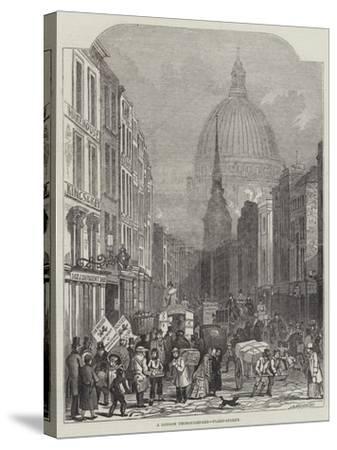 A London Thoroughfare, Fleet-Street-John Wykeham Archer-Stretched Canvas Print