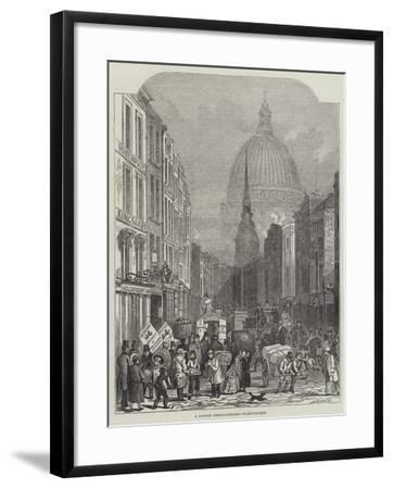 A London Thoroughfare, Fleet-Street-John Wykeham Archer-Framed Giclee Print