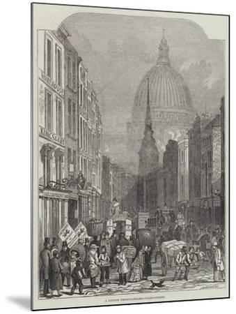 A London Thoroughfare, Fleet-Street-John Wykeham Archer-Mounted Giclee Print