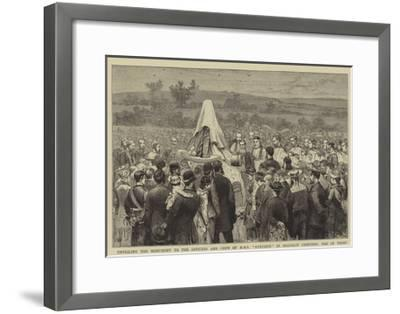Unveiling the Monument to the Officers and Crew of HMS Eurydice in Shanklin Cemetery, Isle of Wight-Joseph Nash-Framed Giclee Print