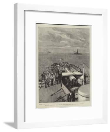 The Naval Manoeuvres, with the Red Fleet, Divine Service on Board HMS Blenheim-Joseph Nash-Framed Giclee Print