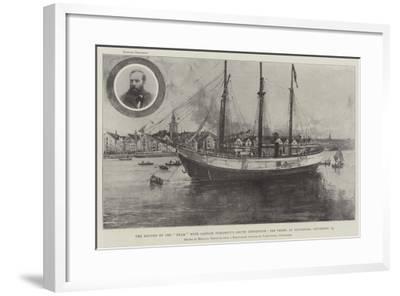 The Return of the Fram with Captain Sverdrup's Arctic Expedition-Joseph Holland Tringham-Framed Giclee Print
