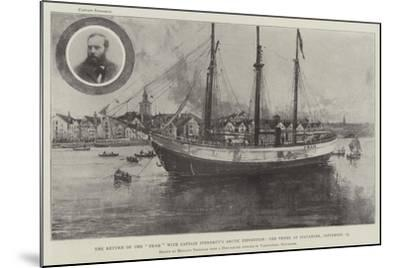The Return of the Fram with Captain Sverdrup's Arctic Expedition-Joseph Holland Tringham-Mounted Giclee Print