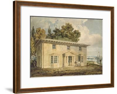 The Penrhyn Arms at Port Penrhyn, C. 1797 - 1798 (Watercolour with Pen and Brown Ink)-J^ M^ W^ Turner-Framed Giclee Print