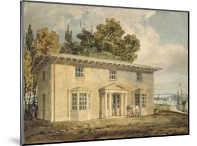 The Penrhyn Arms at Port Penrhyn, C. 1797 - 1798 (Watercolour with Pen and Brown Ink)-J^ M^ W^ Turner-Mounted Giclee Print