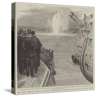 Lord George Hamilton's Reception of Members of Parliament at Portsmouth Dockyard-Joseph Nash-Stretched Canvas Print
