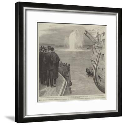 Lord George Hamilton's Reception of Members of Parliament at Portsmouth Dockyard-Joseph Nash-Framed Giclee Print