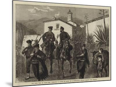 The Civil War in Spain, the Somaten, a Levee En Masse of a Catalonian Village Against the Carlists-Joseph Nash-Mounted Giclee Print