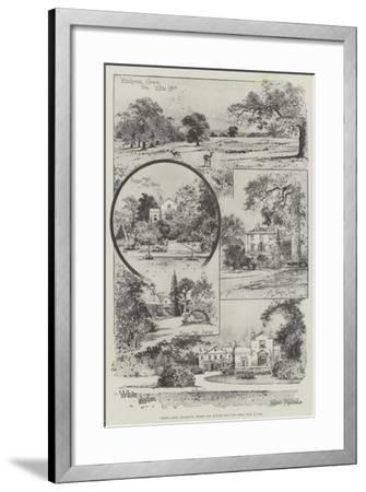 White Lodge, Richmond, Where Our Future King Was Born, 23 June 1894-Joseph Holland Tringham-Framed Giclee Print