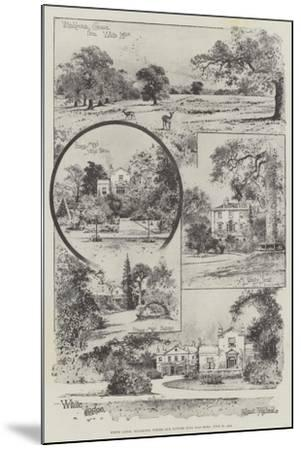 White Lodge, Richmond, Where Our Future King Was Born, 23 June 1894-Joseph Holland Tringham-Mounted Giclee Print