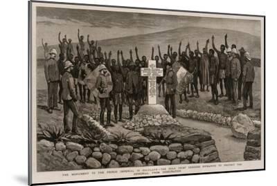The Monument to the Prince Imperial in Zululand-Joseph Nash-Mounted Giclee Print