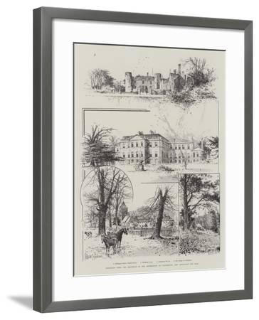 Addington Park, the Residence of the Archbishops of Canterbury, Now Announced for Sale-Joseph Holland Tringham-Framed Giclee Print