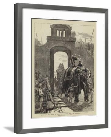 Entry of the Prince of Wales into Jummoo with the Maharajah of Cashmere-Joseph Nash-Framed Giclee Print